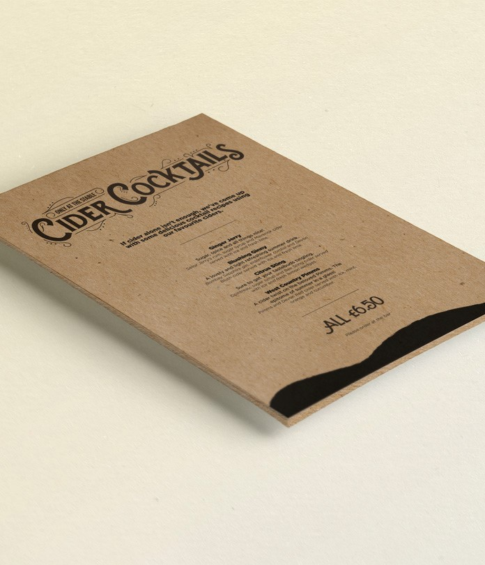 130gsm Brown Eco Kraft Leaflets